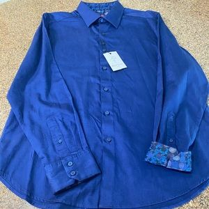 Robert Graham Designer Navy Shirt NWT Extra Large